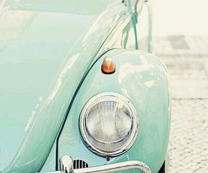 aesthetic, car, and mint green image