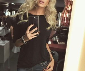 black, blonde, and cool image