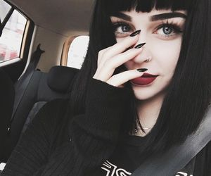 black, grunge, and nails image