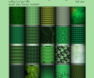 st. patrick's day, digital scrapbook, and commercial use image