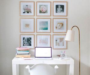 desk, decoration, and decor image