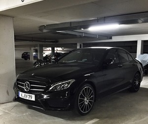 car, mercedes, and black image