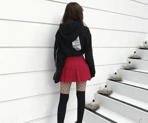 girl, fashion, and red image