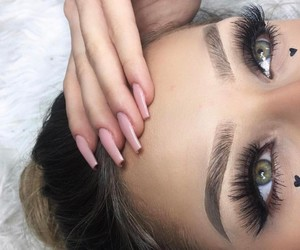 beauty, girls, and eyes eyebrows brows image