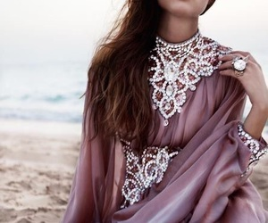 dress, diamond, and beach image