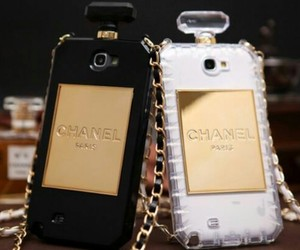 chanel, golden, and handycase image