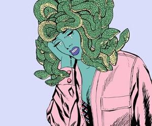 medusa, pink, and art image