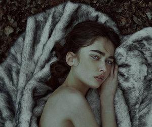 braid, girl, and nature image