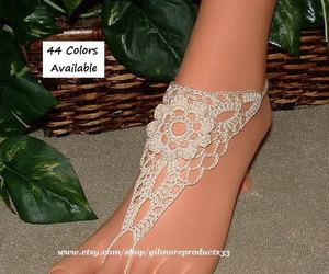ankle, beaded, and sandals image