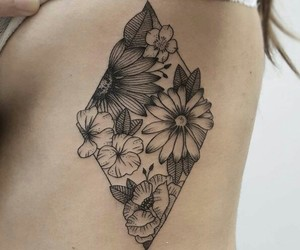 diamond, rhombus, and flowers image