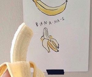 banana, yellow, and aesthetic image