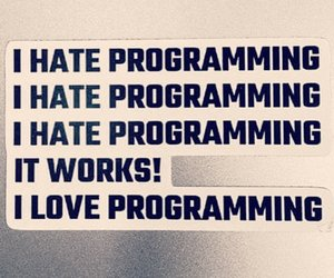 hate and programming image