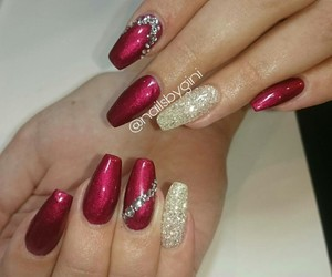 ballerina, glitter, and red image