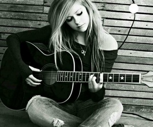 Avril Lavigne, Avril, and guitar image