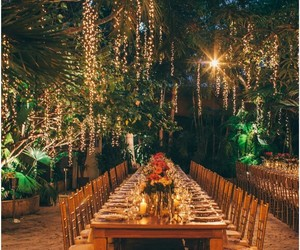 beautiful, lights, and wedding image