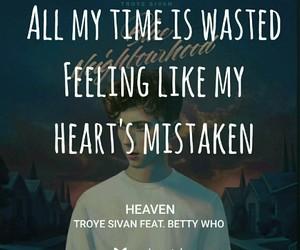 heaven, Lyrics, and music image