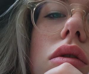 girl, glasses, and grunge image