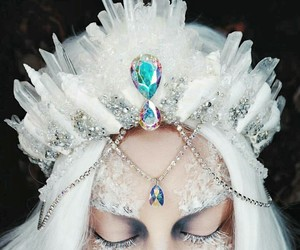 crown, fantasy, and white image