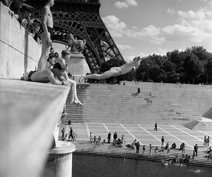 paris, black and white, and photography image