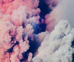 pink, clouds, and smoke image