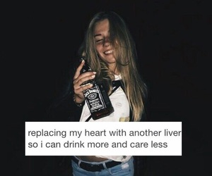 alcohol, breakup, and broken heart image