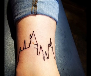 black ink, harry potter, and harry potter tattoo image