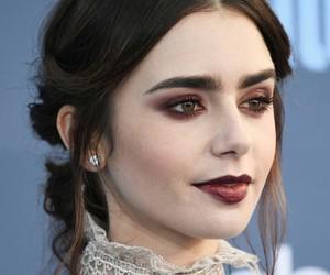 lily collins, actress, and makeup image