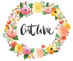flowers and calligraphy image