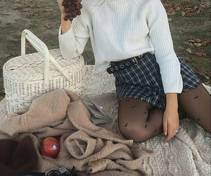 fashion, grapes, and sweater image