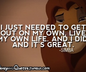 simba, disney, and quote image