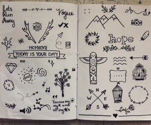 doodle, drawing, and art image