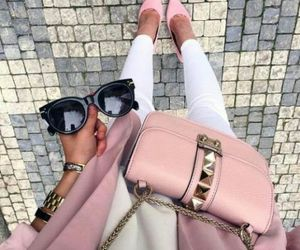 fashion, glasses, and pink image