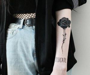 tattoo, black, and grunge image