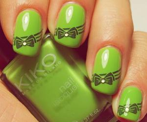 nails, green, and pretty image
