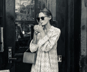 b&w, cigarette, and style image