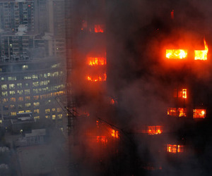 fire, building, and city image