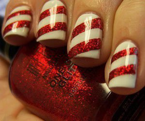 nails, red, and christmas image