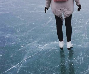 ice, ice skating, and skater image