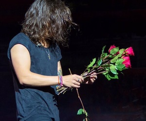 Harry Styles, one direction, and rose image