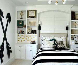 bedroom, black, and decor image