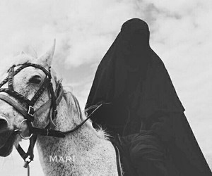 allah, muslim, and niqab image