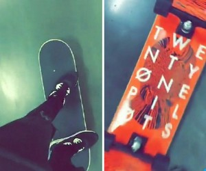 red, skate, and twenty one pilots image