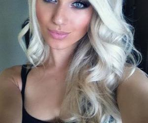 blonde, girl, and blue eyes image
