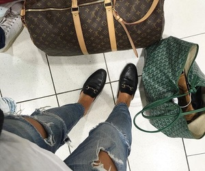 airport, bag, and jeans image