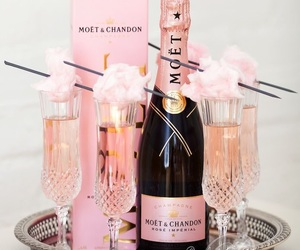 champagne, pink, and moet image