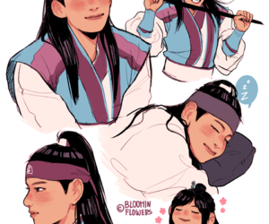hwarang, v, and fanart image