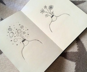 flowers, draw, and aesthetic image