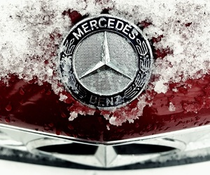 car, cold, and mercedes benz image