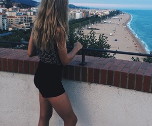 afternoon, Barcelona, and beach image