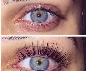 blue, eyes, and lashes image